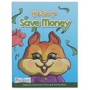 Coloring Book with Mask - It's Fun to Save Money Image 2 of 6