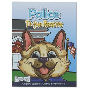 Coloring Book with Mask - Police to the Rescue Image 1 of 5