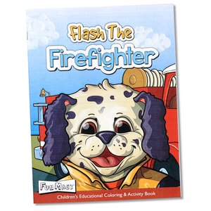Coloring Book with Mask & Crayons - Flash the Firefighter Image 5 of 7