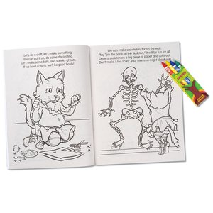Coloring Book with Mask & Crayons - Spooky Fun Halloween Image 3 of 7