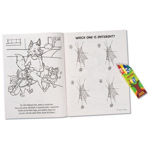 Coloring Book w/Mask & Crayons - All Hallows Eve Fun Image 3 of 5
