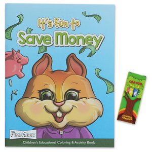 Coloring Book with Mask & Crayons - It's Fun to Save Money Image 1 of 6