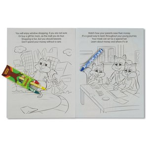 Coloring Book with Mask & Crayons - It's Fun to Save Money Image 4 of 6