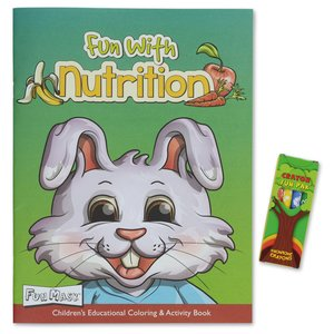 Coloring Book with Mask & Crayons - Fun with Nutrition Image 1 of 6