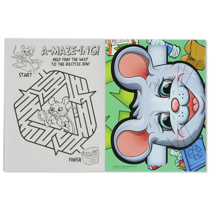 4imprint.com: Coloring Book with Mask & Crayons - Recycling is Fun ...