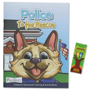 Coloring Book w/Mask & Crayons - Police to the Rescue Image 1 of 6