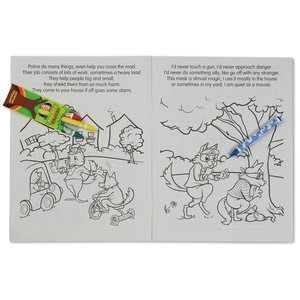 Coloring Book w/Mask & Crayons - Police to the Rescue Image 4 of 6
