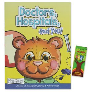 Coloring Book w/Mask & Crayons - Doctors, Hospitals and You Image 1 of 6