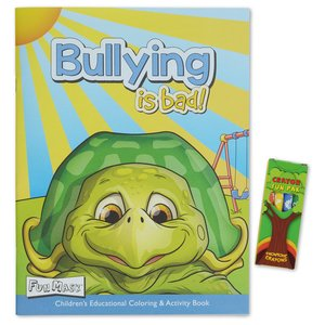 Coloring Book with Mask & Crayons - Bullying is Bad Image 1 of 6