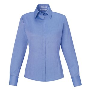 Refine Wrinkle Free Royal Oxford Dobby Shirt - Ladies Image 2 of 2
