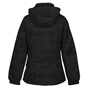 Brushstroke Hooded Insulated Jacket - Ladies' Image 1 of 1