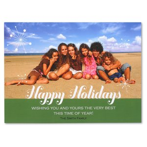 Happy Holidays Photo Greeting Card Image 2 of 3