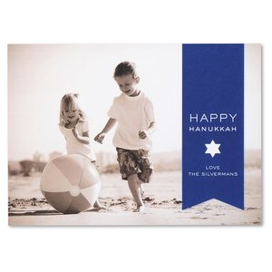 Happy Hanukkah Photo Greeting Card - Star Image 2 of 3