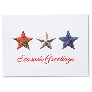 Red, White & Blue Stars Greeting Card Image 2 of 3
