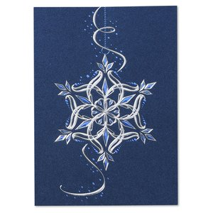 Gleaming Snowflake Greeting Card Image 2 of 3