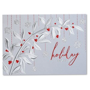 Holiday Red Berries Greeting Card - Image 2 of 3
