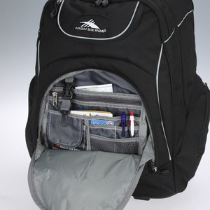 High Sierra Powerglide Wheeled Laptop Backpack - Embroidered Image 3 of 3
