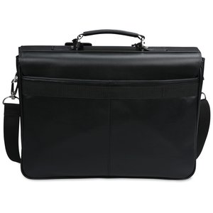 Kenneth Cole Manhattan Leather Laptop Messenger - 24 hr Image 1 of 2