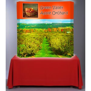 Backlit HopUp Curved Tabletop Display - 5'- RG Image 1 of 1
