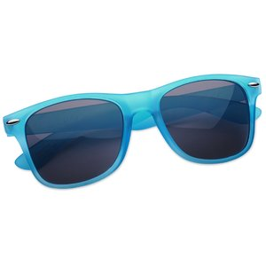 Silky Smooth Retro Sunglasses - Translucent