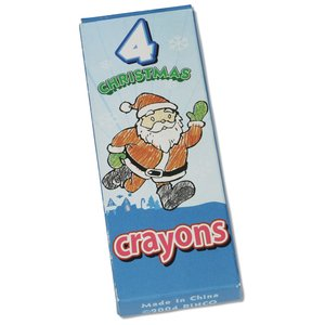 Season Greeting Crayons - 4 pack Image 1 of 2