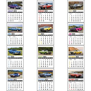 Muscle Car Stick Up Calendar - Rectangle Image 1 of 1