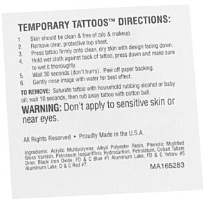 Glitter Temporary Tattoo - 2