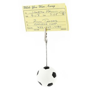 Soccer Ball Memo Holder - Closeout Image 1 of 1