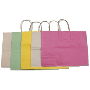 Tonal Striped Matte Paper Bag - 13