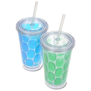 Arctic Chill Tumbler with Straw - 16 oz. Image 1 of 1