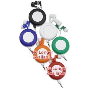 Push Button Retractable Ear Buds Image 1 of 3