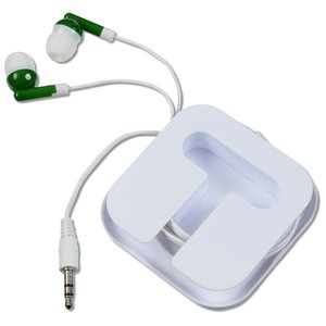 Ear Buds with Square Case - White Image 2 of 3