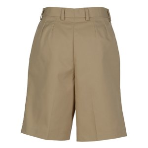 Poly/Cotton Pleated Front Transit Shorts - Ladies' Image 1 of 1