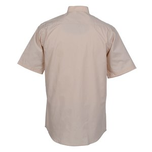Broadcloth Short Sleeve Banded Collar Shirt - Men's Image 1 of 2