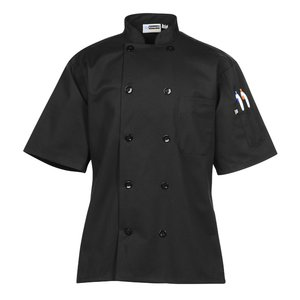 Ten Button Short Sleeve Chef Coat Image 3 of 3