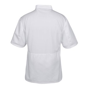 Ten Button Short Sleeve Chef Coat with Mesh Back Image 2 of 3
