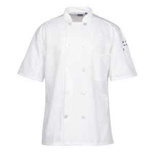 Ten Button Short Sleeve Chef Coat with Mesh Back Image 3 of 3