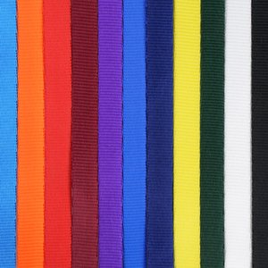 "Smooth Nylon Lanyard - 1/2"" - 34"" - Large Metal Bulldog Clip"