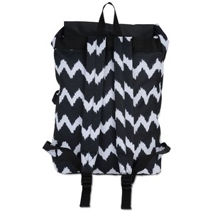 In Print Rucksack Backpack - Chevron Image 2 of 2