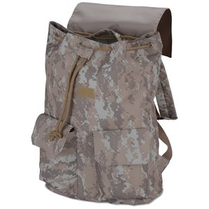 In Print Rucksack Backpack - Camo Image 1 of 2