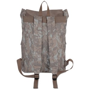 In Print Rucksack Backpack - Camo Image 2 of 2