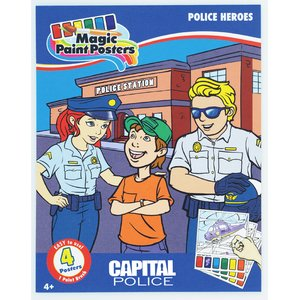 Paint Poster Pack - Police Heroes Image 1 of 3