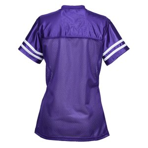 Poly Mesh Jersey V-Neck T-Shirt - Ladies' Image 1 of 1