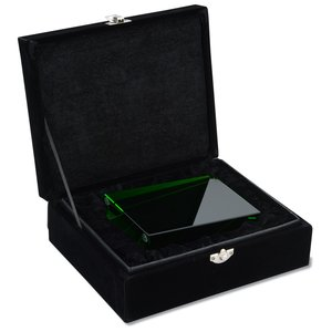 Emerald Wedge Crystal Award - 5