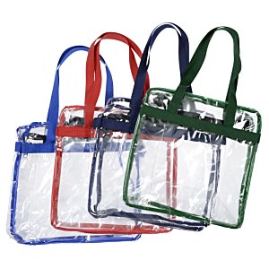 Clear Zip Top Box Tote Image 1 of 2