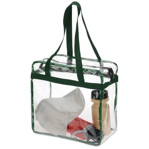 Clear Zip Top Box Tote Image 2 of 2