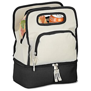 Color Dip Dual Compartment Lunch Cooler Image 1 of 2