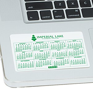 Removable Laptop Calendar - 2-3/4
