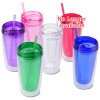 Vivid Tumbler with Straw - 14 oz. Image 2 of 2