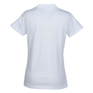 Anvil Ringspun 4.5 oz. V-Neck T-Shirt - Ladies' - White Image 1 of 1